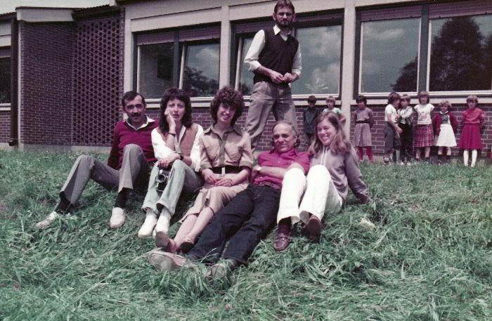 David Ehrlich i sudionici Internacionalne filmske radionice održane u Dunjkovcu 1984.